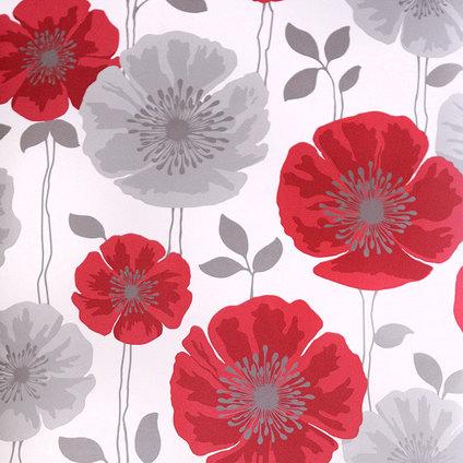 Bloom 14866 for Red flower wallpaper living room