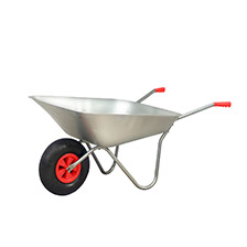 Wheelbarrows and buskets